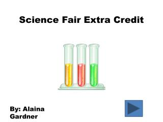 Science Fair Extra Credit