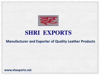 SHRI EXPORTS - Manufacturer And Exporter Of Quality Leather