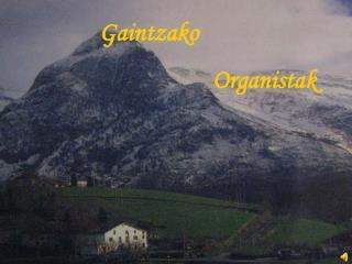 Gaintzako                              Organistak