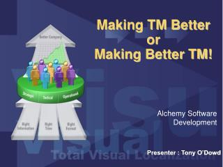 Making TM Better  or  Making Better TM!