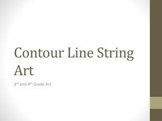 Contour Line String Art