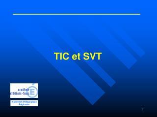 TIC et SVT