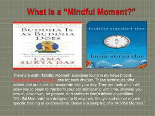 "What is a ""Mindful Moment?"""