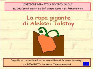 La rapa gigante di Aleksei Tolstoy
