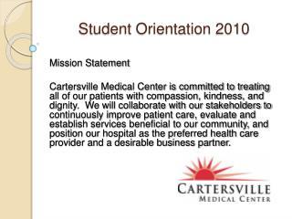 Student Orientation 2010