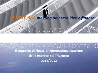 Il supporto di Finest  all'internazionalizzazione  delle imprese del Triveneto 2011/2012
