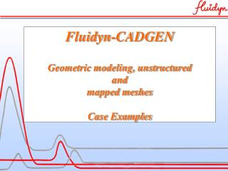 Fluidyn-CADGEN Geometric modeling, unstructured  and  mapped meshes Case Examples