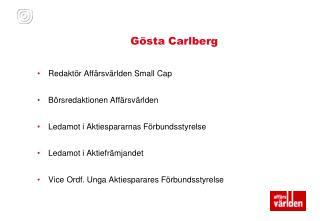Gösta Carlberg