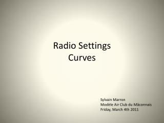 Radio Settings Curves