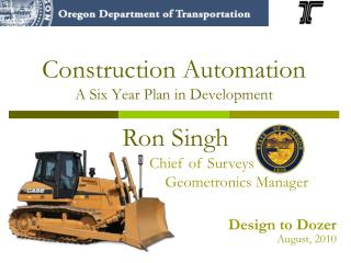 Construction Automation A Six Year Plan in Development