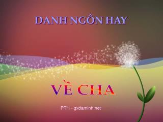 DANH NGÔN HAY