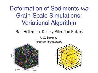 Deformation of Sediments  via  Grain-Scale Simulations: Variational Algorithm