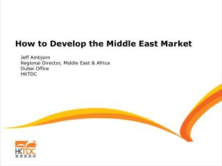 How to Develop the Middle East Market