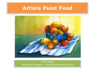 Artists Paint Food