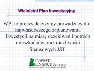 Wieloletni Plan Inwestycyjny