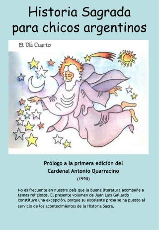 Historia Sagrada para chicos argentinos