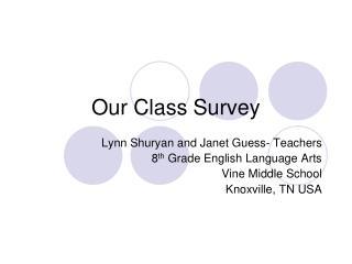Our Class Survey
