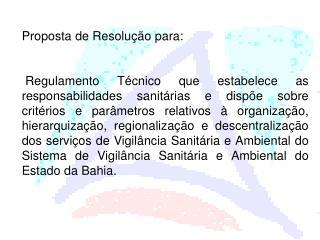 Proposta de Resolução para: