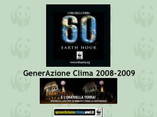 GenerAzione Clima 2008-2009
