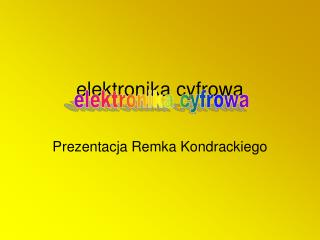 elektronika cyfrowa