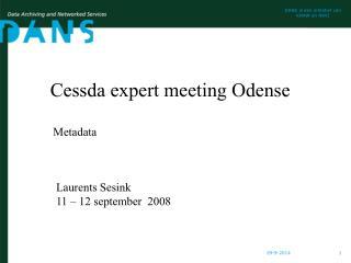 Cessda expert meeting Odense