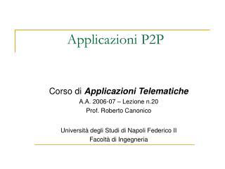 Applicazioni P2P