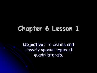 Chapter 6 Lesson 1