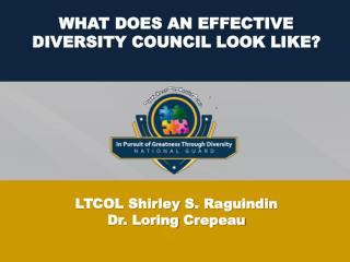 WHAT DOES AN EFFECTIVE DIVERSITY COUNCIL LOOK LIKE?
