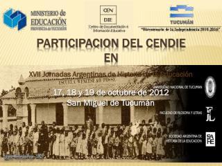 Participacion  del CENDIE en