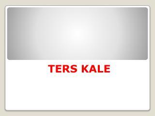 TERS KALE