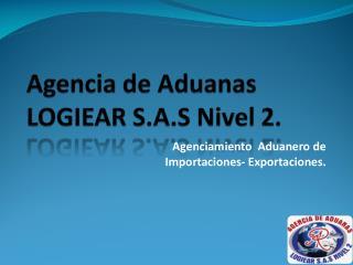 Agencia de Aduanas LOGIEAR S.A.S Nivel 2.