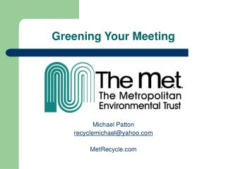 Greening Your Meeting