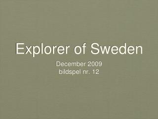 Explorer of Sweden