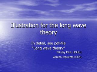 Illustration for the long wave theory