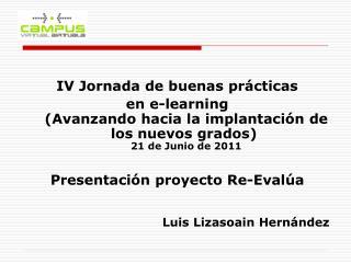 IV Jornada de buenas prácticas