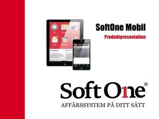 SoftOne Mobil
