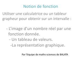 Par l  quipe de maths-sciences de BALATA