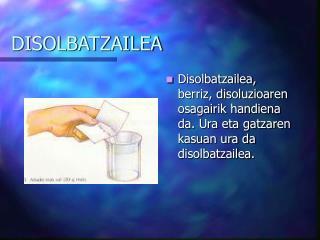 DISOLBATZAILEA