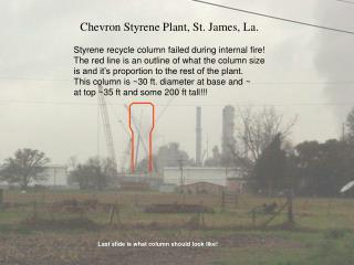 Chevron Styrene Plant, St. James, La.