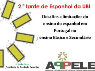 Desafios e limitações do ensino do espanhol em Portugal no ensino Básico e Secundário