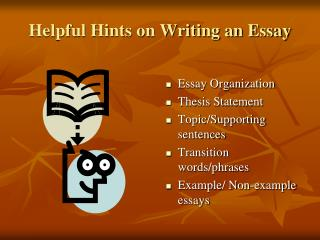 Helpful hints for essay writing