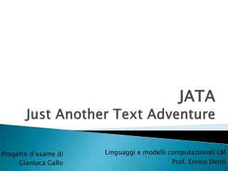 JATA Just Another Text Adventure