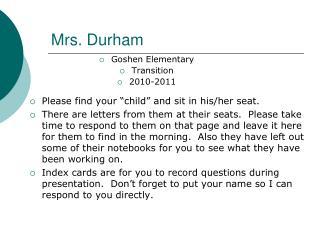 Mrs. Durham