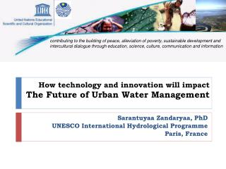 How technology and innovation will impact The Future of Urban Water Management