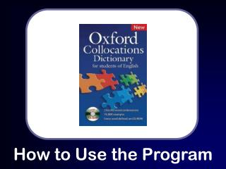 How to Use the Program