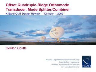 Offset Quadruple-Ridge Orthomode Transducer, Mode Splitter