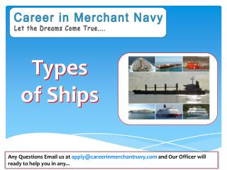 Type of Ships in Merchant Navy