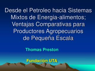 Thomas Preston Fundación UTA