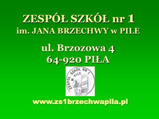 im. JANA BRZECHWY w PILE