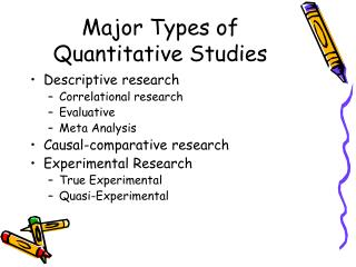 Major Types of Quantitative Studies